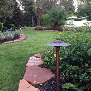 Copper Landscape Lighting Fixtures - Patina