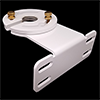 White Adjustable Gutter Mount