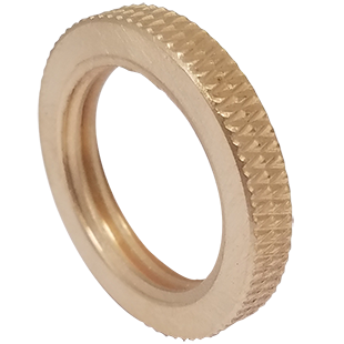 Knurled Brass Lock Nut