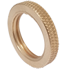 Diamond Knurled Brass Lock Nut (QTY. 10)